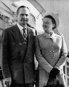 Fredric March and wife Florence