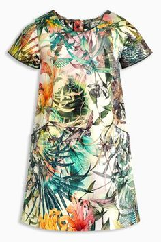 Our multi tropical print shift dress will be a gorgeous addition to your little one's wardrobe this summer, whether she's hitting a party or beach stroll! Stylish Clothes For Girls, Stylish Kids, Shift Dress Pattern, Dress Patterns, Girls Easter Dresses, Kids Fashion, Ladies Fashion, Print Shift, Beautiful Dresses