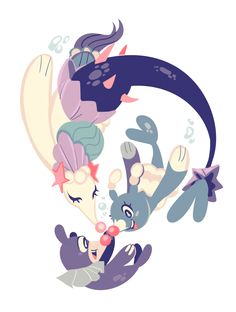Popplio, Brionne, and Entermaid / Sirene