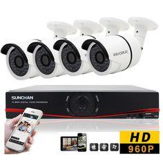 8CH 960P HD Security Camera System Outdoor 1080N HDMI DVR AHD 4 Camera CCTV Kits…