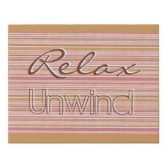 Relax Unwind Colorful trendy stripes Faux Canvas Print - decor gifts diy home & living cyo giftidea
