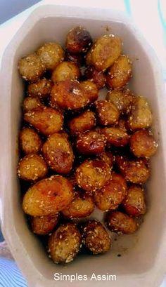 Batatinhas picantes com mel e gergelim - Simples Assim