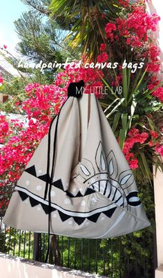 Little Lab Greece Summer Bags, Softies, Drawstring Backpack, Gym Bag, Lab, Greece, Sewing Projects, Hand Painted, Handmade