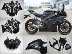 Injection ABS Fairing Fit for Yamaha 2006 2007 YZF R6 Matte Black Bodywork b40