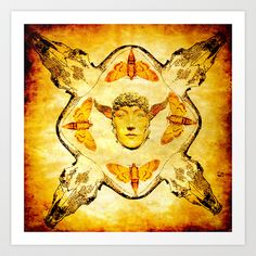 le mystique homme papillon  Art Print by ganech - $16.64