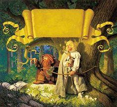 Tolkien Calendar 1978 Cover, Brothers Hildebrandt