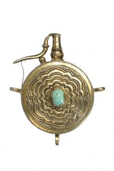 A GERMAN SILVER-GILT POWDER FLASK, PROBABLY DRESDEN, CIRCA 1650-80