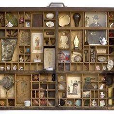 Vintage Fragments of Life Shadowbox