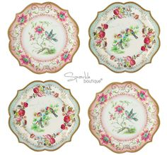 Talking Tables Truly Scrumptious Dessert/Cake Plates - 12 plates in ...