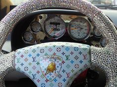 OH My..Sparkly Steering wheel! <3