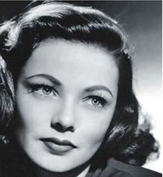 Gene Tierney. Reminds me a bit of the character Jeanne Norwick in my novel, Forget Me Not. Just a tad anyway.