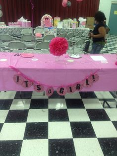 The banner I made for my cousin's baby shower.