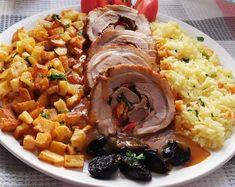 Καραμελωμένο γεμιστό χοιρινό ρολό της Γκόλφως με αξεπέραστη σάλτσα Dear Santa, Nutella, Rice, Meat, Food, Christmas, Xmas, Essen, Navidad