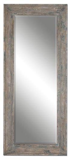"FineHomeLamps.com - Missoula Distressed Leaner Mirror by Uttermost - 34"" x 82"", $635.80 (http://www.finehomelamps.com/missoula-distressed-leaner-mirror.html/)"