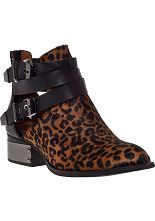 SPLURGE WORTHY!!! Jeffrey Campbell Everly Ankle Boot Leopard