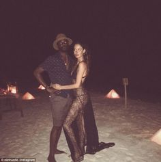 Romantic!On Saturday, Nicole Trunfio, sported yet another raunchy outfit from her lavish Maldives honeymoon with Gary Clark Jr.