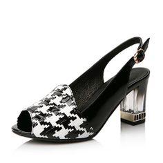 Fashion women sandals 2014 peep toe full grain leather Swallow gird high heels pumps women shoes on Etsy, $66.00