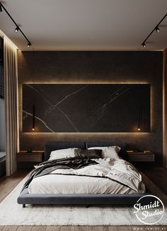 Black Bedroom Design, Room Design Bedroom, Bedroom Setup, Bedroom False Ceiling Design, Master Bedroom Interior, Modern Master Bedroom, Home Room Design, Bedroom Styles, Men Bedroom