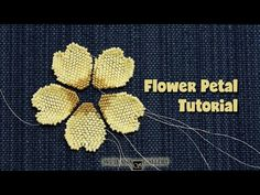 You will learn how to bead a flower petal using seed beads size 11 and peyote stitch technique. Beaded Flowers Patterns, Beading Patterns Free, Seed Bead Patterns, Beaded Bracelet Patterns, Easy Beading Tutorials, Jewelry Patterns, Jewelry Ideas, Knitting Patterns, Peyote Stitch Tutorial