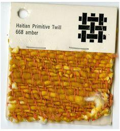 Jack Lenor Larsen woven sample -Haitian Primitive Twill -Amber