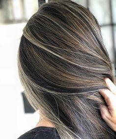 Brilliant hair balayage with grey hair and highlights