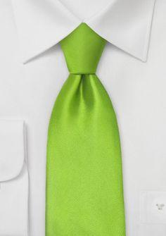 Krawatte in Limetten-Grün