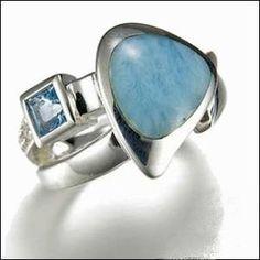 MarahLago Curva Larimar Ring - Larimar & Blue Topaz
