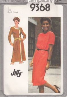 Vintage 80s  UNCUT Sewing Pattern JIFFY WRAP Dress by HoneymoonBus, $7.99