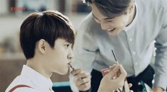 Kai Feeding D.O A Pocky <3.<3..... #Kaisoo Feels <3<3