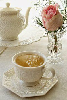 Beautiful white tea set