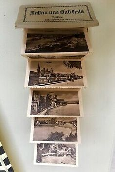 Antique Miniature Postcard Accordian Booklet Germany Passua Bad Hal Bavaria 1890 | eBay Bavaria, Vintage Postcards, Booklet, My Ebay, Germany, Miniatures, Antiques, Joy, Vintage Travel Postcards