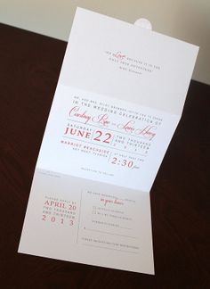 Seal and Send Postcard Wedding Invitation by JacquelineAnnInvites