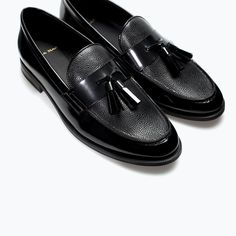 ZARA - MAN - LEATHER MOCCASINS WITH TASSELS