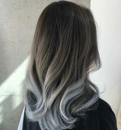 tolle Frisur Ombre Effekt graue Nuancen
