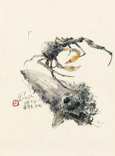 Sketches Diary of Ch'ng Kiah Kiean Ink Painting, Watercolor Paintings, Botanical Illustration, Illustration Art, Amazing Paintings, Pen And Watercolor, Urban Sketching, Fantastic Art, Chinese Art