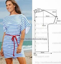 Lots of easy sewing patterns for tops Fashion Sewing, Diy Fashion, Ideias Fashion, Diy Clothing, Sewing Clothes, Dress Sewing Patterns, Clothing Patterns, Robe Diy, Costura Fashion