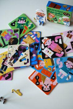 Character Parade 2D Puzzles by Ingela P Arrhenius