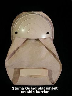 ostomy guard with appliance