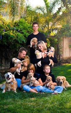Puppies & the family, too sweet.