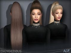 The Sims Resource: Dangerous hair by Ade-Darma  - Sims 4 Hairs - http://sims4hairs.com/the-sims-resource-dangerous-hair-by-ade-darma/