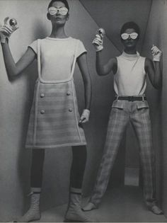 Space age: fashion in the 60's which incorporated metallics, chin strap bonnets, and flat ankle boots (According to Vogue)