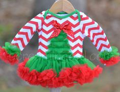 Chevron Tree Onesie Dress from $13.50 through 10/31