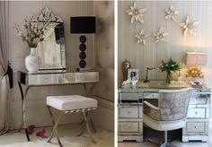 Cantinho de maquiagem: Penteadeiras espelhadas - dressing table