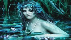"""Mermaid Song""...A ceasg is a mermaid in Scottish mythology, a supernatural half-woman and half-grilse (salmon).[1][2] It is also known in Scottish Gaelic as maighdean na tuinne (""maid of the wave"") or maighdean mhara (""maid of the sea"").[2] The ceasg is said to be able to grant three wishes to anyone that captures her."