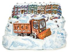 artnet Galleries: Snow Down by Red Grooms from Marlborough Gallery