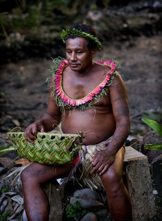 Village Man in Island of Yap, Federated States of Micronesia