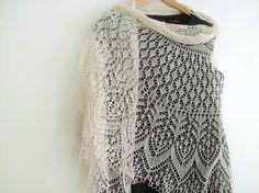 estonian lace pattern | Semi circular wedding lace shawl/veil | Try Handmade Gallery | Free ...