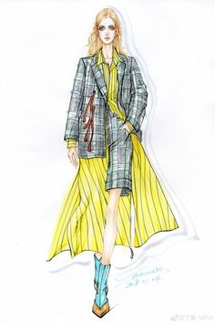 Fashion Painting, Fashion Art, Love Fashion, Korean Fashion, Fashion Models, Girl Fashion, Fashion Outfits, Fashion Design Drawings, Fashion Sketches