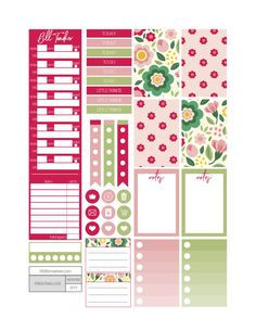 Floral Frenzy Planner Stickers - Fit Life Creative