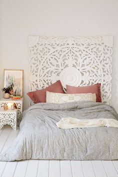 moroccan carved wood headboard